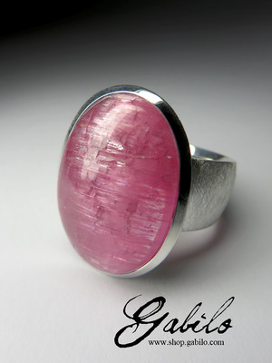 Made to order: Ring mit Rubellit mit Katzenauges
