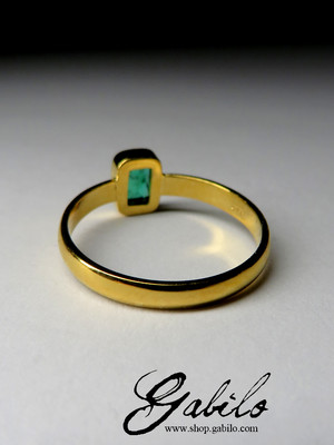 Made to order: Goldring mit Smaragd
