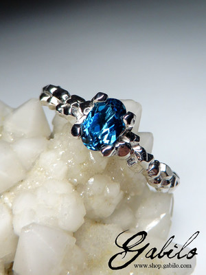 Blue topaz gold ring with Gem Report