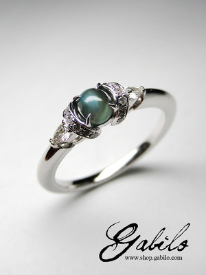 Chatoyancy Alexandrite Diamonds Goldring