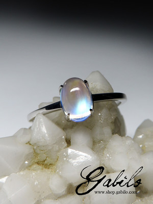 Moonstone gold ring with gem report