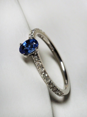 Tanzanite diamonds goldener ring