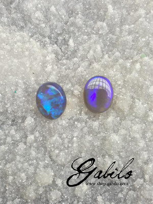 Black opal pair 1.64 ct