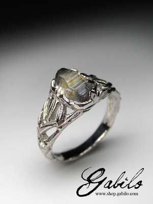 Sapphire crystal silber ring