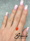 Fire opal 7x9 oval cut 1 ct