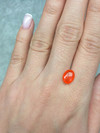 Fire opal 7x9 oval cut 1.05 ct