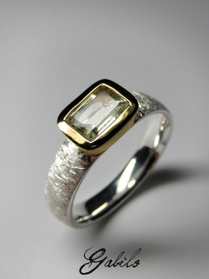 Heliodor silver ring