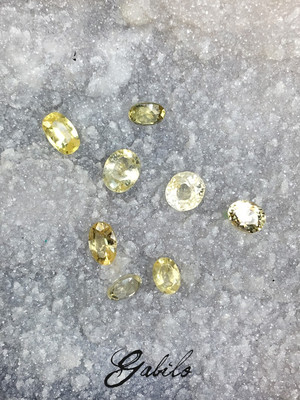 Sapphire cut with Gem Testing Report