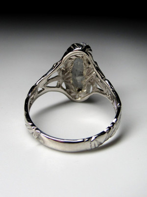 Sapphire crystal silver ring
