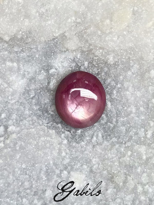 Star ruby cabochon cut 15 ct