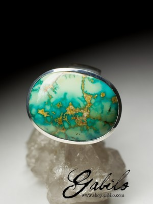 Men's Iranian Turquoise Ring