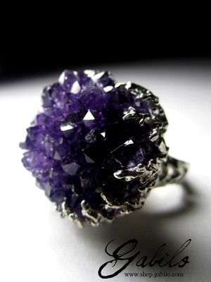 Made to order: Goldring mit Amethyst