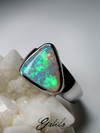 Opal Crystal Pipe goldener ring