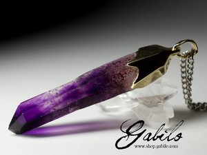 Made to order: Amethyst Crystal Gold Pendant
