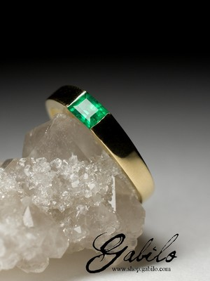 Made to order: Gold ring mit Smaragd