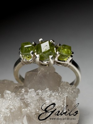 Silberring mit Demantoid