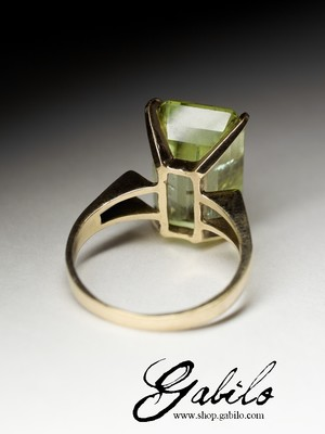 Made to order: Heliodor gold ring