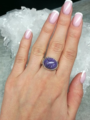 Ring mit Charoit in Silber