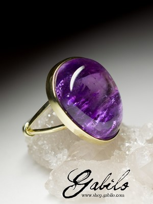 Made to order: Ring mit Amethyst in Gold