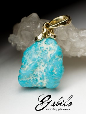 Turquoise gold pendant anhänger