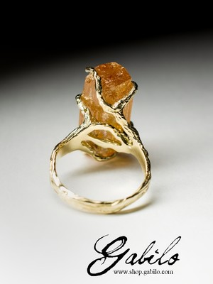 Made to order: Gold Ring mit Topas Imperial