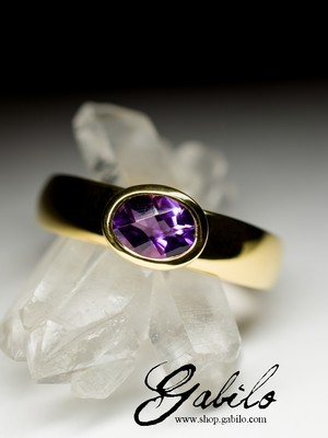 Made to order: Gold ring mit Amethyst